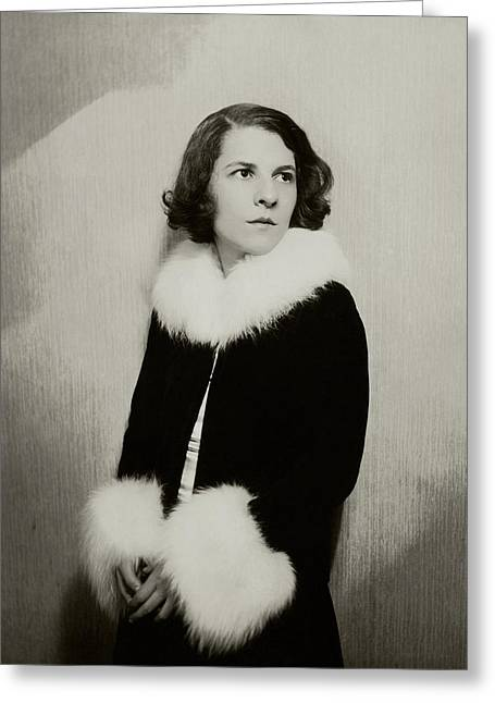 Portrait Of Ruth Gordon Greeting Card by Florence Vandamm