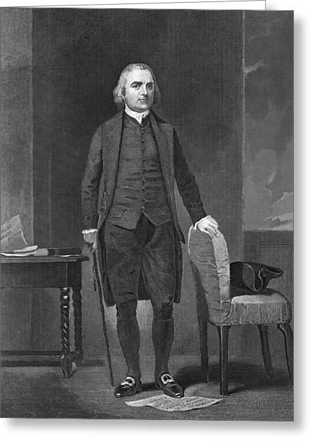 Portrait Of Sam Adams Greeting Card