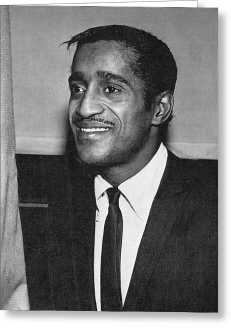 Portrait Of Sammy Davis Jr. Greeting Card by Underwood Archives