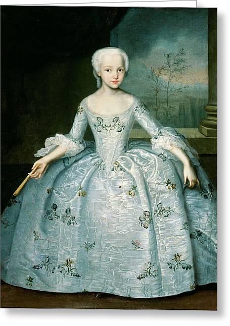 Portrait Of Sarah Eleonor Fermor 1740-1824 1749-50 Oil On Canvas Greeting Card
