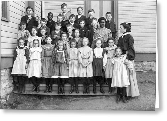 Portrait Of School Children Greeting Card