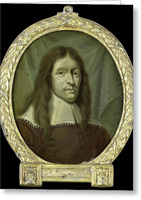 Portrait Of Simon Abbes Gabbema, Historian Of Friesland Greeting Card by Litz Collection