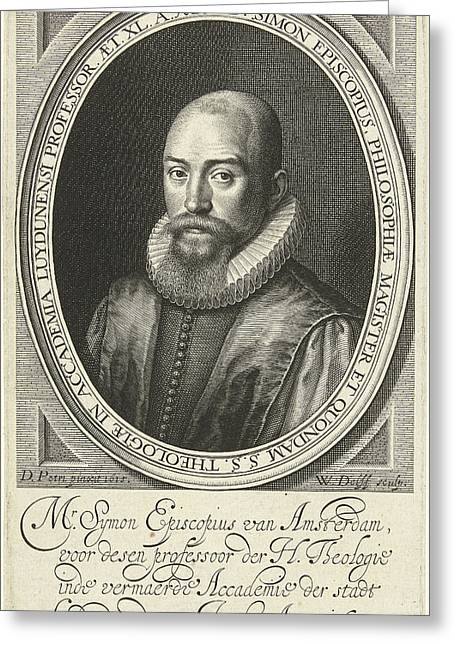 Portrait Of Simon Episcopius At The Age Of 40 Greeting Card