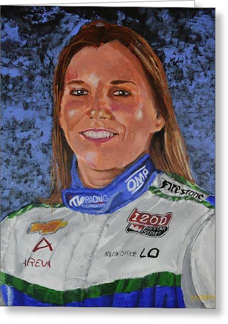 Portrait Of Simona Greeting Card