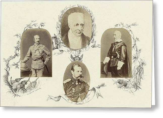 Portrait Of Sir Garnet Wolsleley In Uniform Surrounded Greeting Card by Artokoloro