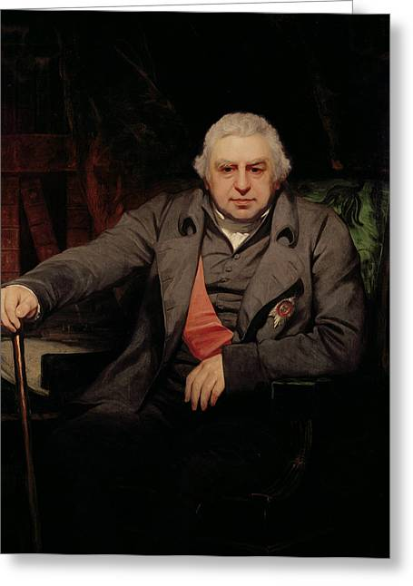 Portrait Of Sir Joseph Banks,1743-1820 1810 Oil On Canvas Greeting Card