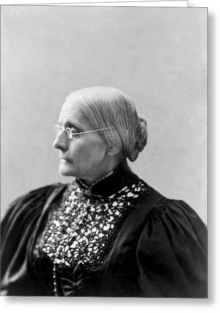 Portrait Of Susan B. Anthony Greeting Card by L. Condon