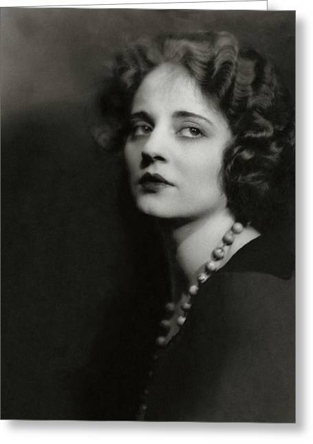 Portrait Of Tallulah Bankhead Greeting Card by Maurice Goldberg