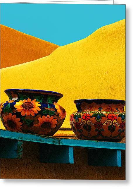 Portrait Of Taos Greeting Card