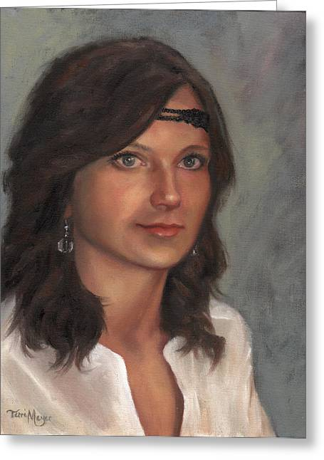 Portrait Of Taylor I Greeting Card by Terri  Meyer