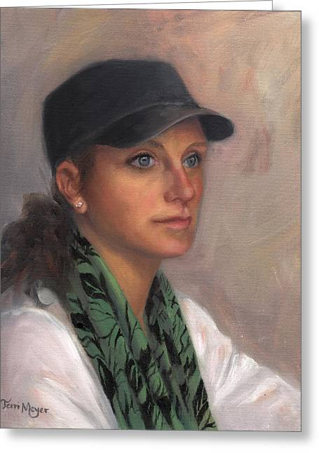 Portrait Of Taylor IIi Greeting Card by Terri  Meyer