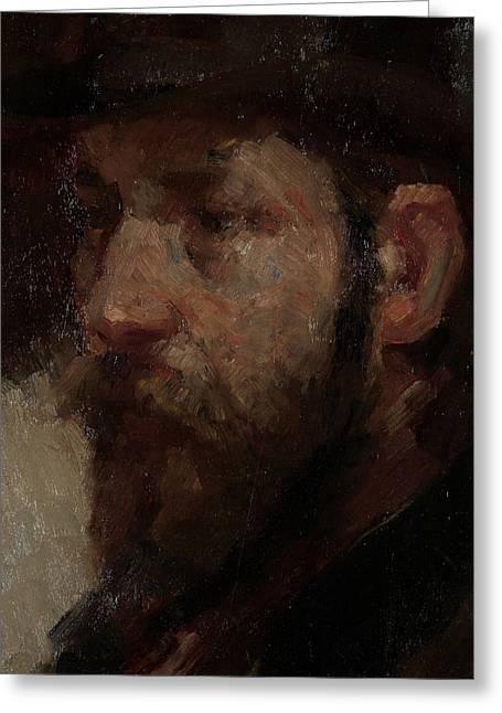 Portrait Of The Art Dealer E.j Greeting Card