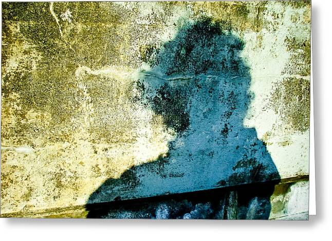 Portrait Of The Artist As Shadow 3 Greeting Card by Ronda Broatch