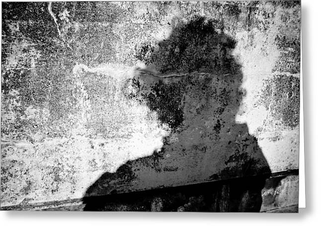 Portrait Of The Artist As Shadow 6 Greeting Card by Ronda Broatch