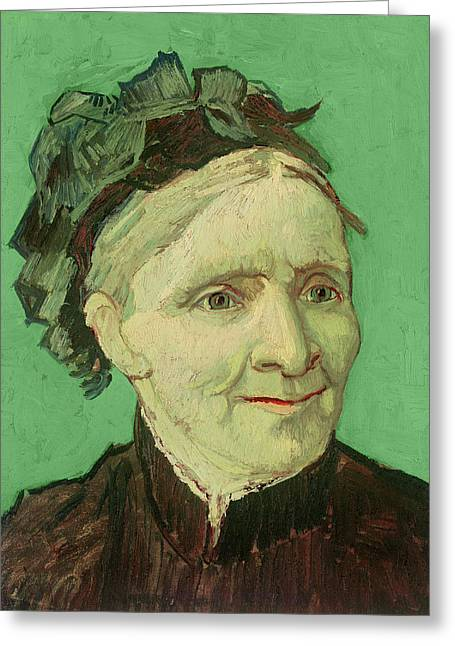 Portrait Of The Artist's Mother Greeting Card by Vincent van Gogh