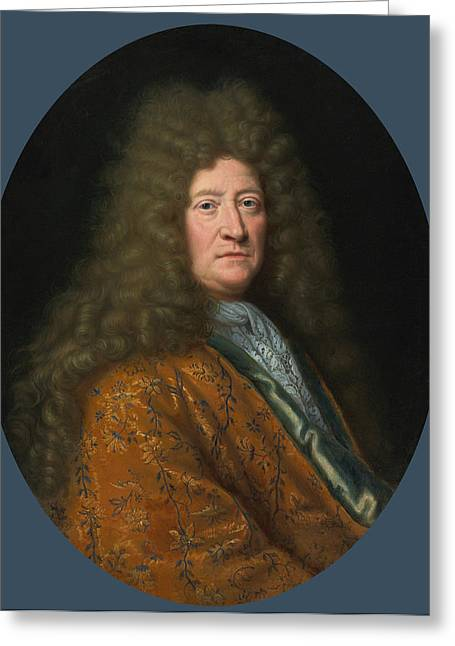 Portrait Of The Edouard Colbert Marquis De Villacerf Greeting Card