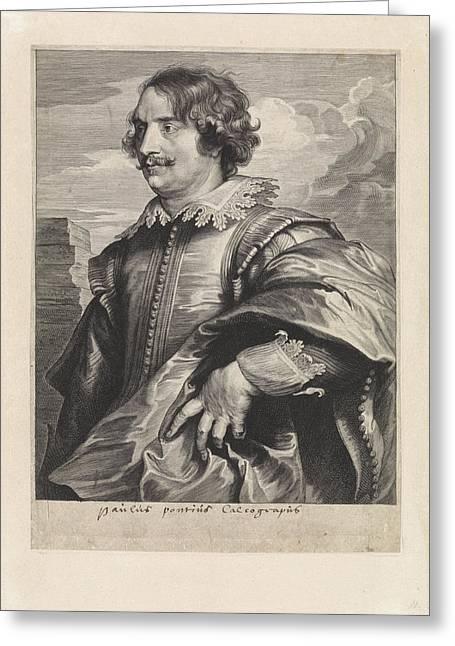 Portrait Of The Engraver Paul Pontius, Paulus Pontius Greeting Card