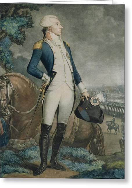 Portrait Of The Marquis De La Fayette Greeting Card