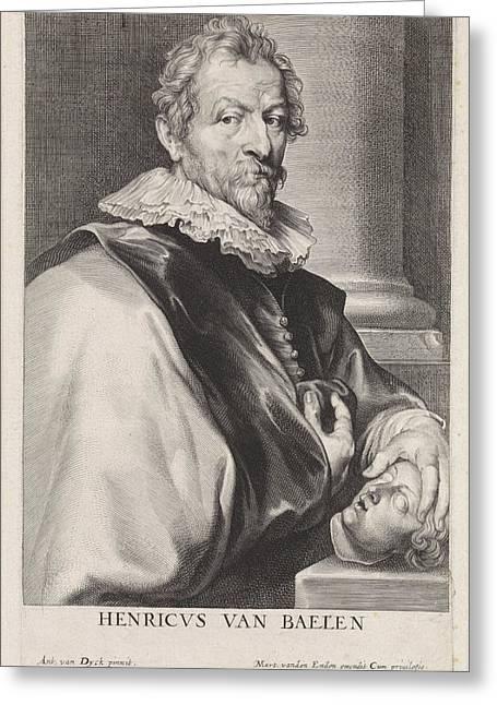 Portrait Of The Painter Hendrik Van Balen Greeting Card