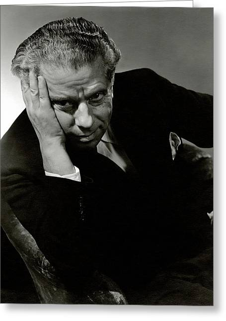 Portrait Of Theater Director Max Reinhardt Greeting Card by Lusha Nelson