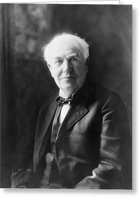 Portrait Of Thomas Edison Greeting Card