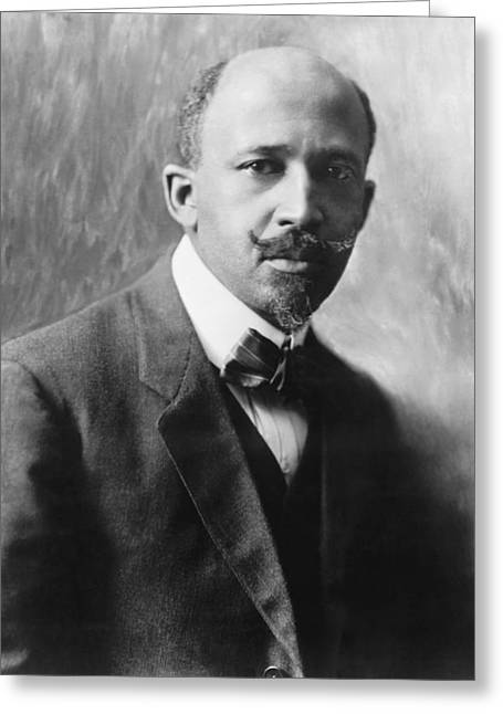 Portrait Of W.e.b. Dubois Greeting Card by Underwood Archives