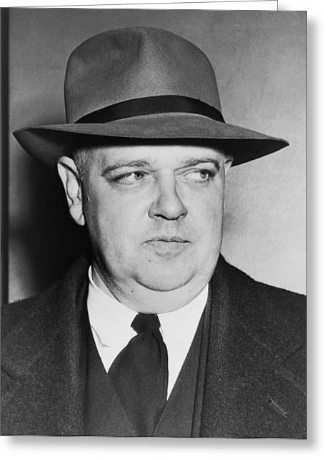 Portrait Of Whittaker Chambers Greeting Card by Fred Palumbo