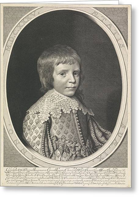 Portrait Of Willem II In An Oval Greeting Card