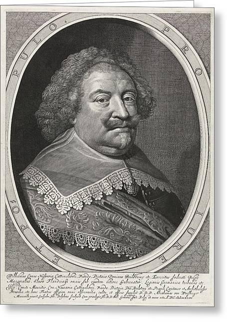 Portrait Of William, Count Of Nassau Greeting Card