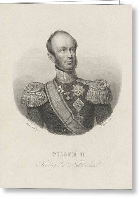 Portrait Of William II, King Of The Netherlands Greeting Card