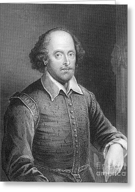 Portrait Of William Shakespeare Greeting Card by English School