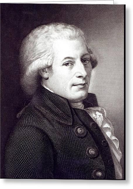 Portrait Of Wolfgang Amadeus Mozart Greeting Card by Johann Heinrich Wilhelm Tischbein