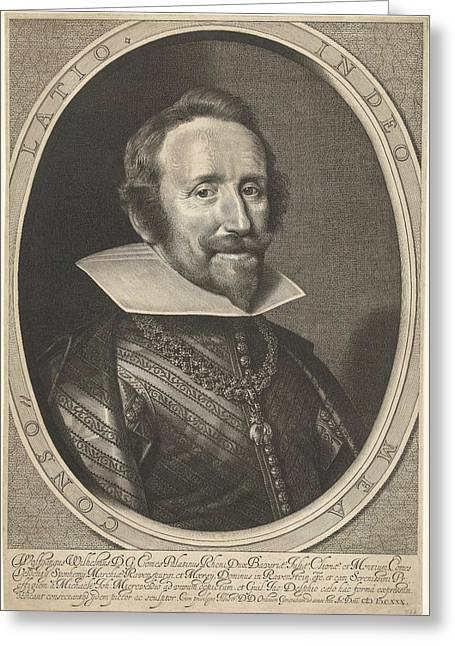 Portrait Of Wolfgang Willem Van De Palts-neuburg Greeting Card