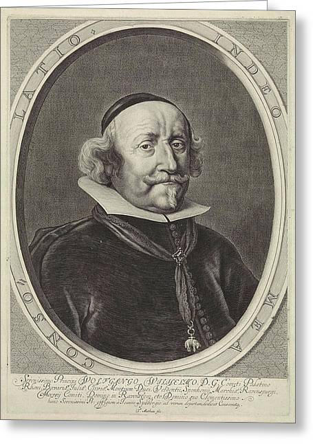 Portrait Of Wolfgang William Of The Palatinate-neuburg Greeting Card by Theodor Matham