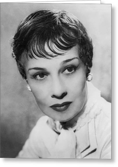 Portrait Of Writer Anita Loos Greeting Card