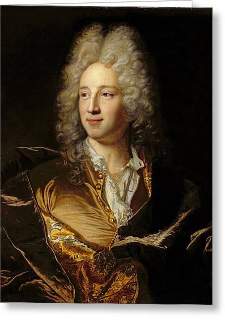Portrait Presumed To Be Louis-alexandre De Bourbon 1678-1737 Duc De Damville Oil On Canvas Greeting Card by Hyacinthe Rigaud