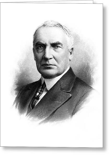 Portrait Warren G. Harding 1865-1923 Greeting Card