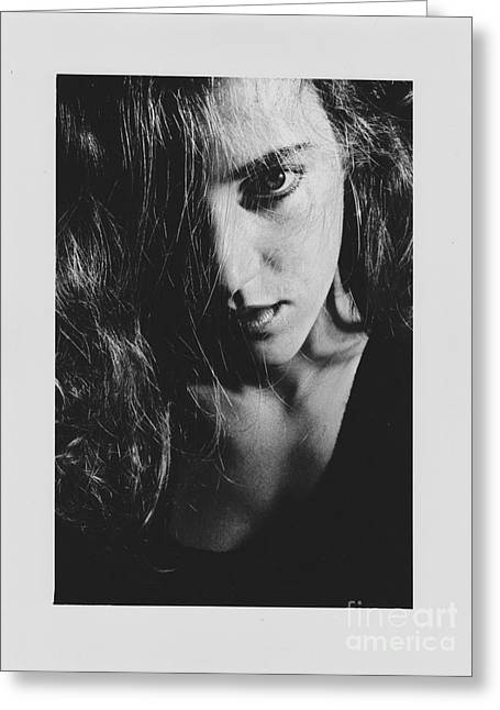 Portrait Woman Greeting Card by Jeepee Aero