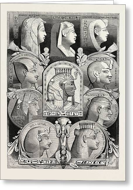 Portraits From Likenesses Of The Time Of The Pharaohs Greeting Card by Litz Collection