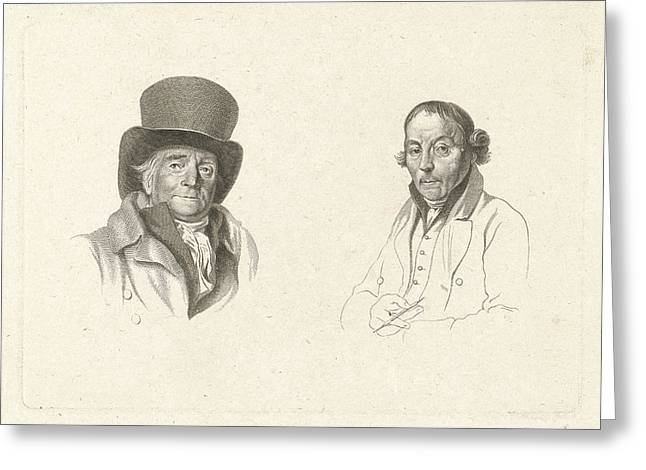 Portraits Of John Peter Of Horstok And Warner Horstink Greeting Card