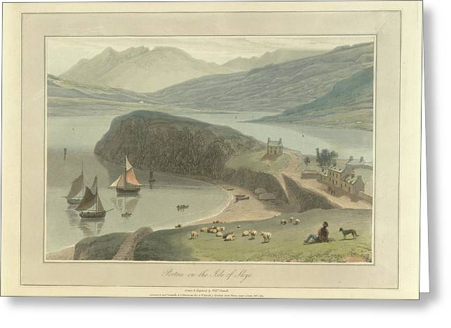 Portree Greeting Card by British Library