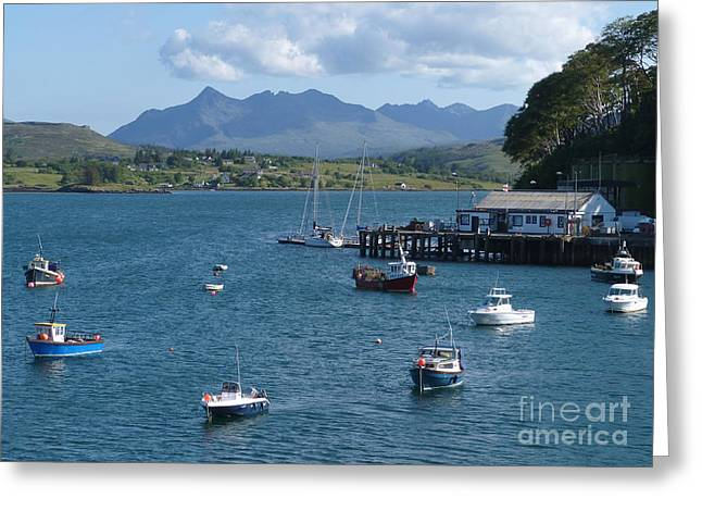 Portree Harbour - Isle Of Skye Greeting Card