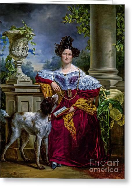 Portret Van Alida Christina Assink 1833 Greeting Card