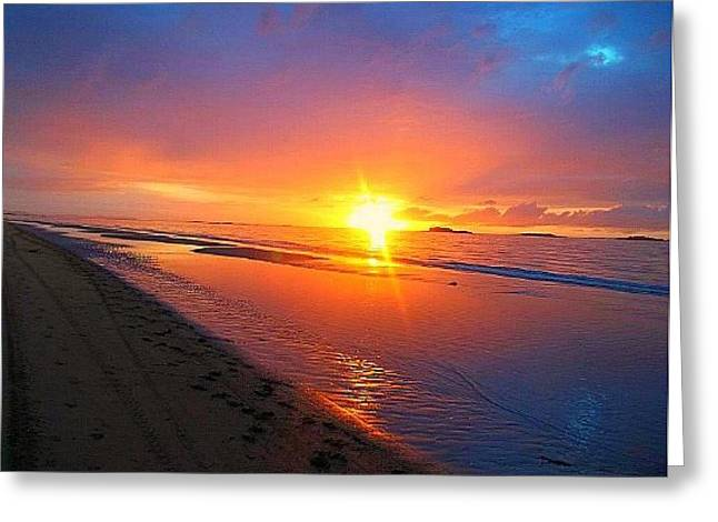 Greeting Card featuring the photograph Portrush Sunset by Tara Potts