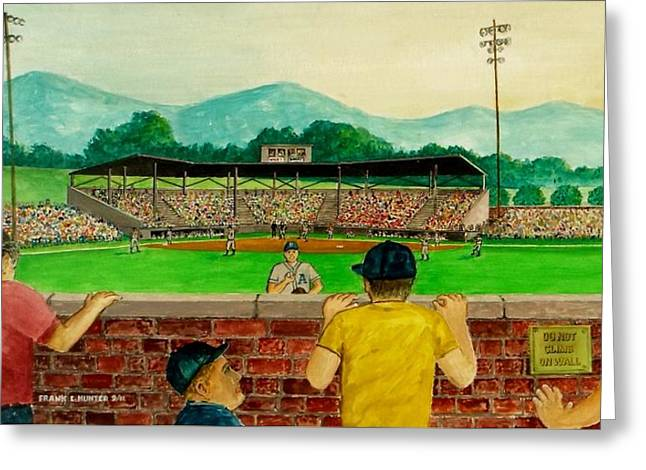 Portsmouth Athletics Vs Muncie Reds 1948 Greeting Card