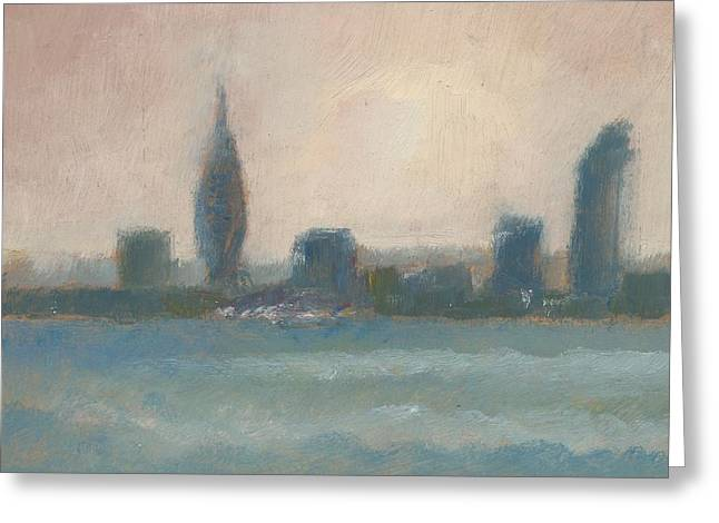 Portsmouth Dawn Part Four Greeting Card by Alan Daysh