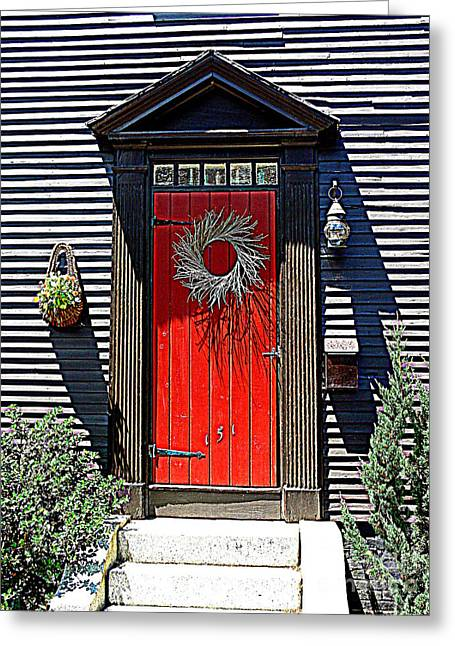 Portsmouth Door 2 Greeting Card by Kevin Fortier