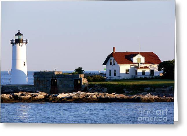 Portsmouth Harbor Light Greeting Card by Kevin Fortier