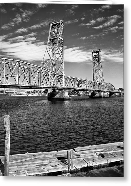 Portsmouth Liftbridge Greeting Card by Joseph Smith