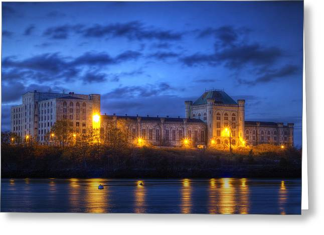 Portsmouth Naval Prison Greeting Card by Eric Gendron